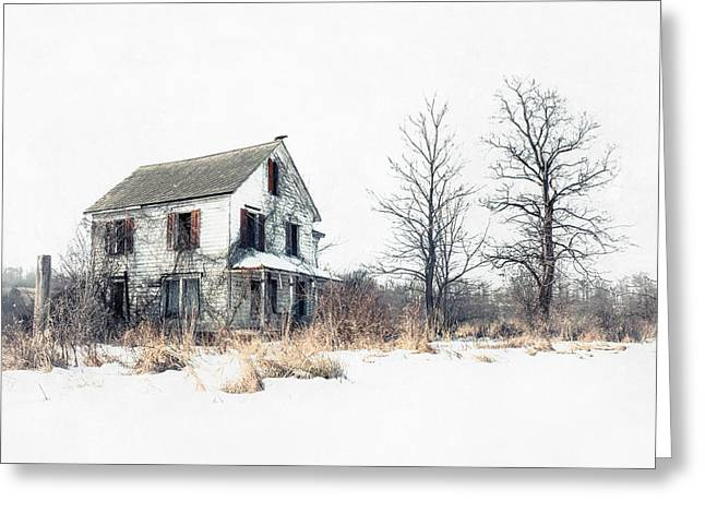 Spooky Greeting Cards - Brighter Days - The Abandoned Farmhouse of a Serial Killer Greeting Card by Gary Heller
