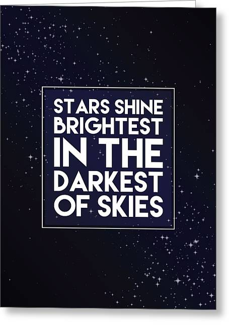 Dark Skies Greeting Cards - Brightest Stars Greeting Card by Samuel Whitton
