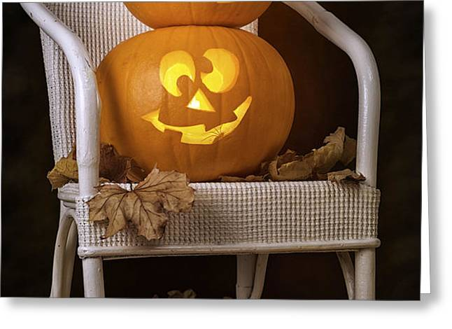 Brightly Lit Jack O Lanterns Greeting Card by Amanda And Christopher Elwell