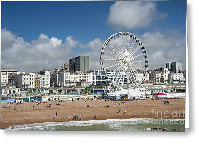 Brighton Beach Greeting Cards - Brighton Beach Greeting Card by Donald Davis