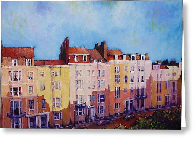 Brighton Beach Greeting Card by Herschel Pollard
