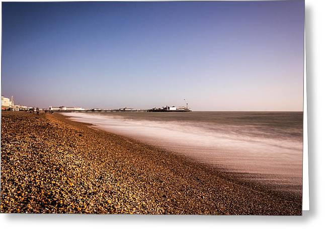 Brighton Beach Greeting Cards - Brighton Beach Greeting Card by Ian Hufton