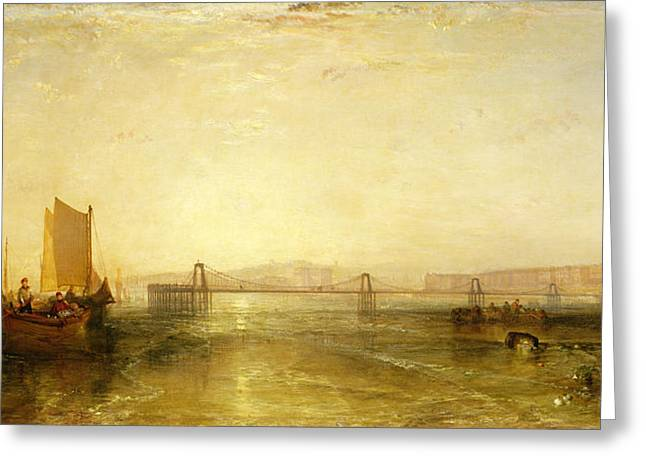 Town Pier Greeting Cards - Brighton From The Sea, C.1829 Greeting Card by Joseph Mallord William Turner