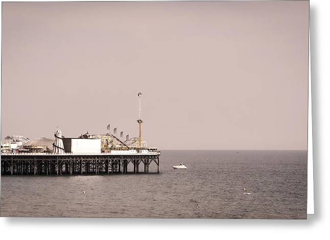 Palace Amusements Greeting Cards - Brighton Pier Greeting Card by Heather Applegate