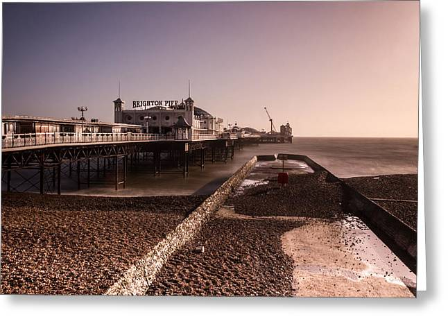Sussex Greeting Cards - Brighton Pier Greeting Card by Ian Hufton