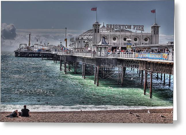 Brighton Beach Greeting Cards - Brighton Pier Greeting Card by Jasna Buncic