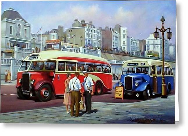 Day Out Greeting Cards - Brighton prom. Greeting Card by Mike  Jeffries