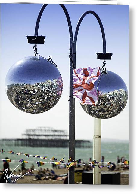 Max Callender Greeting Cards - Brighton with Pride Greeting Card by Max CALLENDER