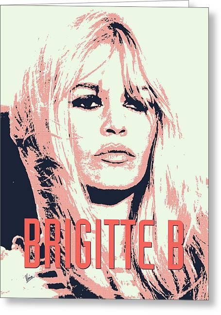 Brigitte Greeting Cards - Brigitte B Greeting Card by Chungkong Art