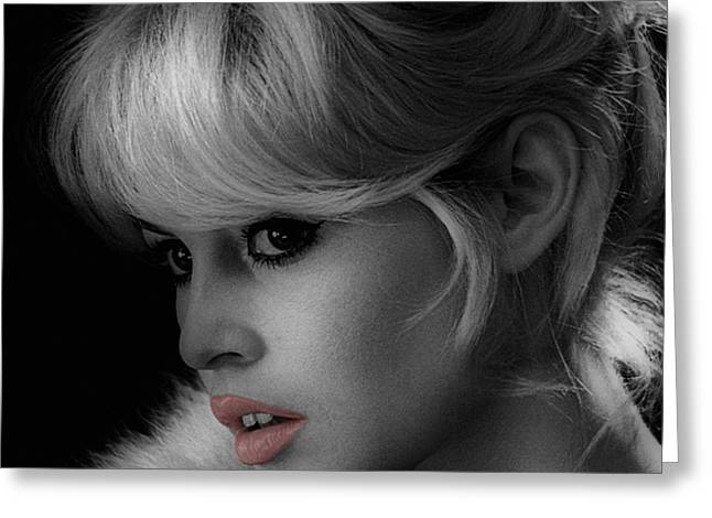 Brigitte Bardot Greeting Card by Andrew Fare