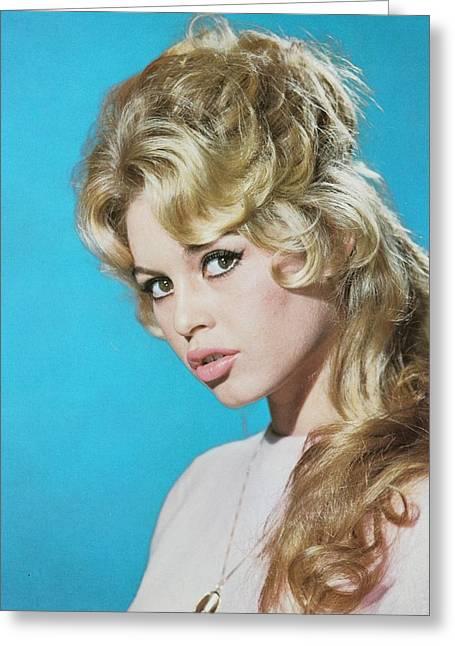 Brigitte Greeting Cards - Brigitte Bardot Beauty Portrait Greeting Card by Nomad Art And  Design