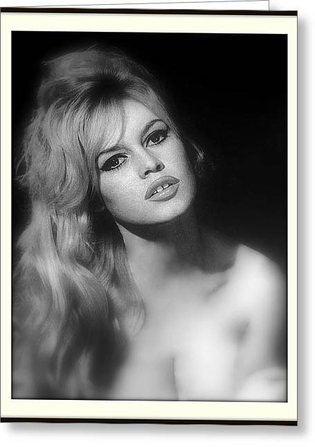 Nude Monroe Greeting Cards - Brigitte Bardot Greeting Card by Daniel Gomez