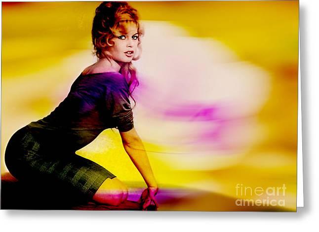 Brigitte Bardot Greeting Cards - Brigitte Bardot Greeting Card by Marvin Blaine
