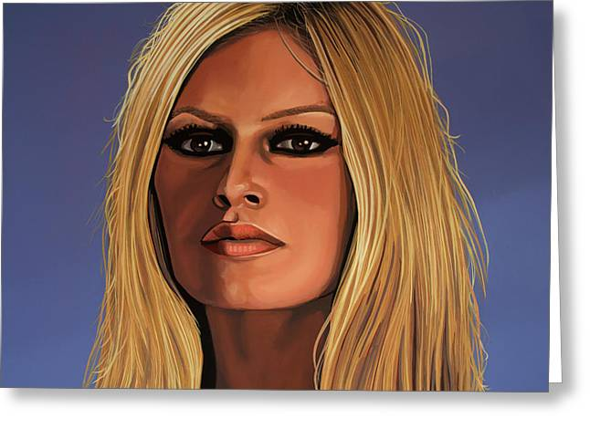 Model Greeting Cards - Brigitte Bardot Greeting Card by Paul  Meijering