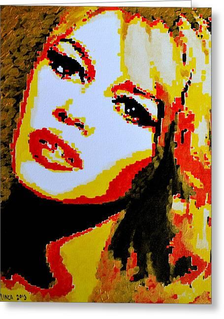 Brigitte Greeting Cards - Brigitte Bardot Greeting Card by Victor Minca