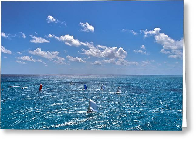 Limitless Greeting Cards - Brilliant Blues Greeting Card by Steven Lapkin