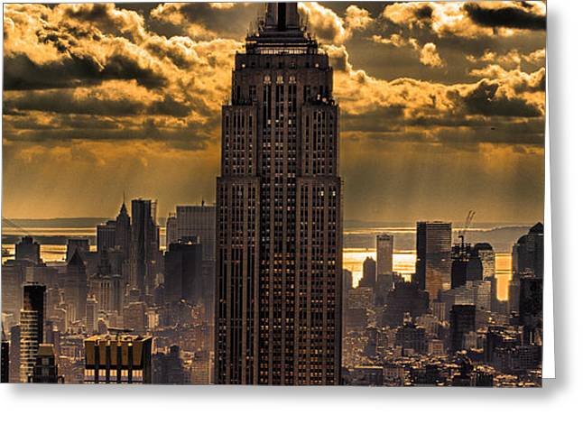 brilliant but hazy manhattan day Greeting Card by John Farnan