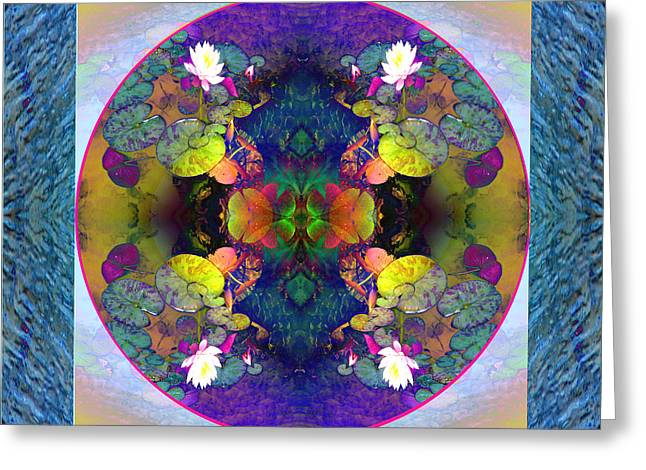 Lilly Pads Mixed Media Greeting Cards - Brilliant Fluidity Greeting Card by Pederbeck Arte Gruppe