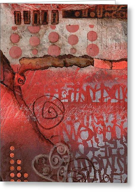 Abstract Collage Greeting Cards - Bring it to the Surface Greeting Card by Laura  Lein-Svencner