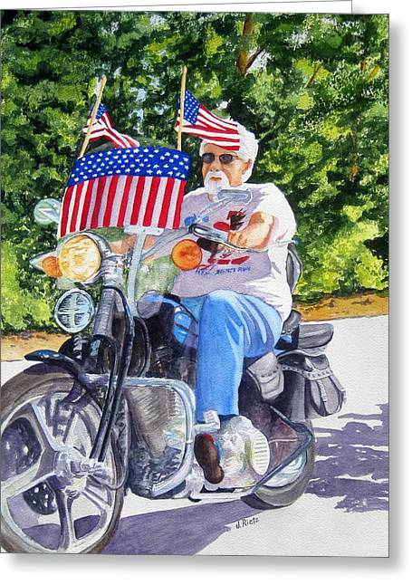 Bring On The Parade Greeting Card by Julia Rietz