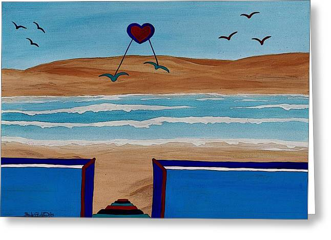 Dream Scape Paintings Greeting Cards - Bringing the Heart Home Greeting Card by Barbara St Jean