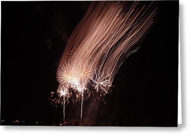 Feuerwerk Greeting Cards - Bringing the moon air home Greeting Card by San Con