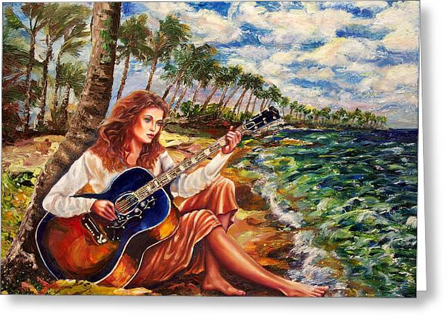 Briny Blues Greeting Card by Yelena Rubin