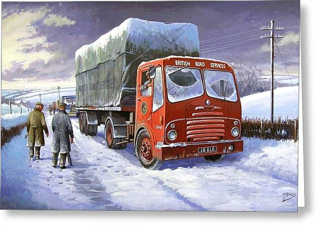 Snowbound Greeting Cards - Bristol HA BRS Greeting Card by Mike  Jeffries