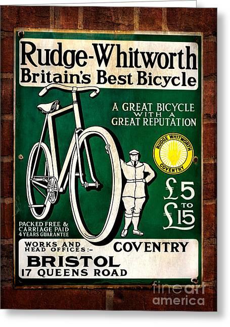 Britains Best Bicycle Greeting Card by Adrian Evans