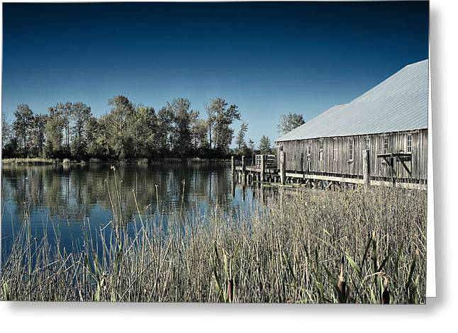 Peaceful Scenery Greeting Cards - Britannia Heritage Shipyard   Richmond BC   Canada Greeting Card by Nth Alien