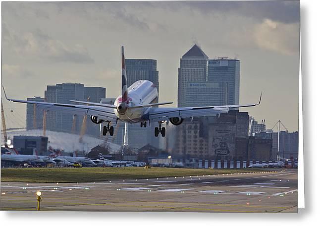 Traffic Control Greeting Cards - British Airways London Greeting Card by David Pyatt