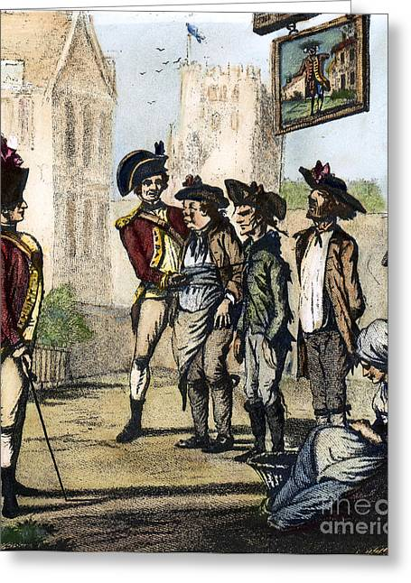 1770s Greeting Cards - BRITISH ARMY, 1770s Greeting Card by Granger