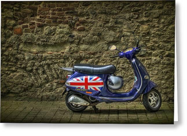 British At Heart Greeting Card by Evelina Kremsdorf