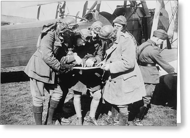 Western Front Greeting Cards - British aviators, early 20th century Greeting Card by Science Photo Library