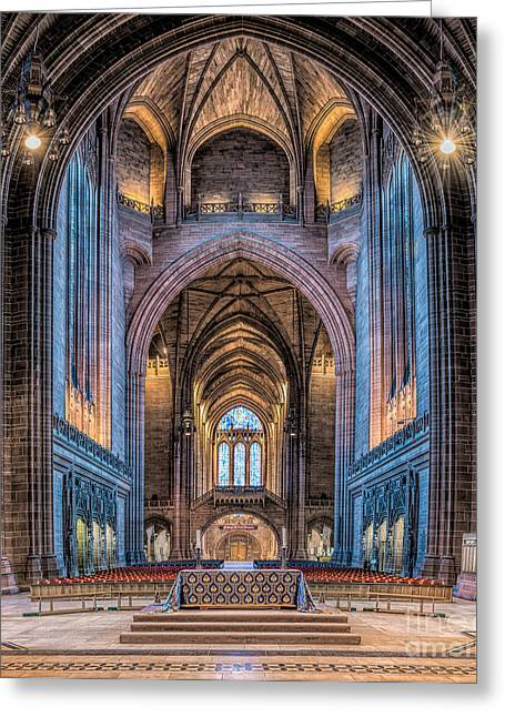 Stones Digital Art Greeting Cards - British Cathedral Greeting Card by Adrian Evans