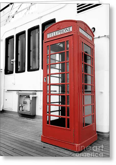 Kiosk Greeting Cards - British Conversations Greeting Card by Charles Dobbs
