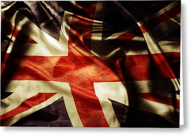 Democratic Greeting Cards - British flag  Greeting Card by Les Cunliffe