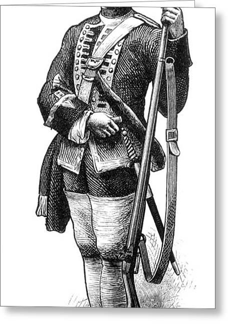 1770s Greeting Cards - British Grenadier Greeting Card by Granger