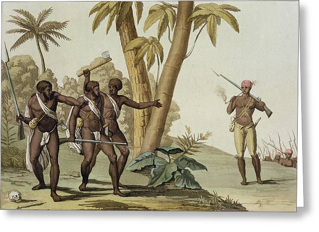 Slavery Greeting Cards - British Guyana Surinam, The Slave Greeting Card by G. Bramati