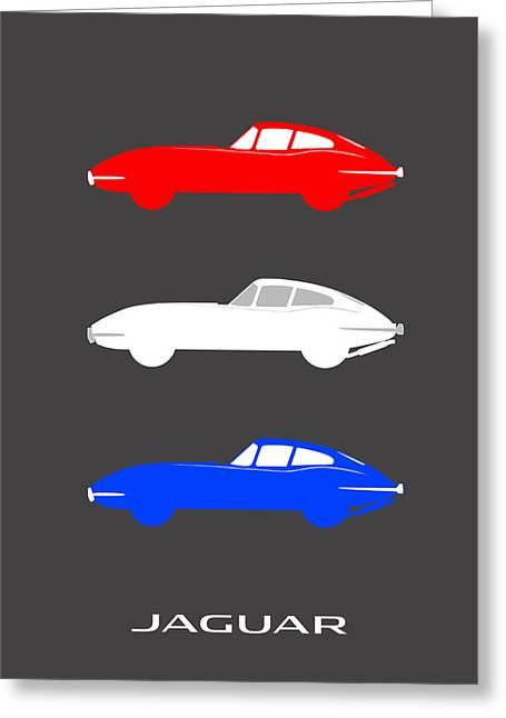 Jaguars Greeting Cards - British Icon - Jaguar E Type Greeting Card by Mark Rogan