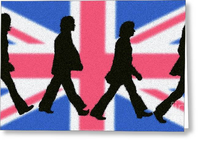 Rock Music Digital Art Greeting Cards - British Invasion Greeting Card by Cristophers Dream Artistry