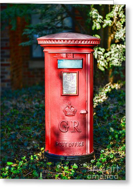 Pillar Box Greeting Cards - British Mail Box Greeting Card by Paul Ward