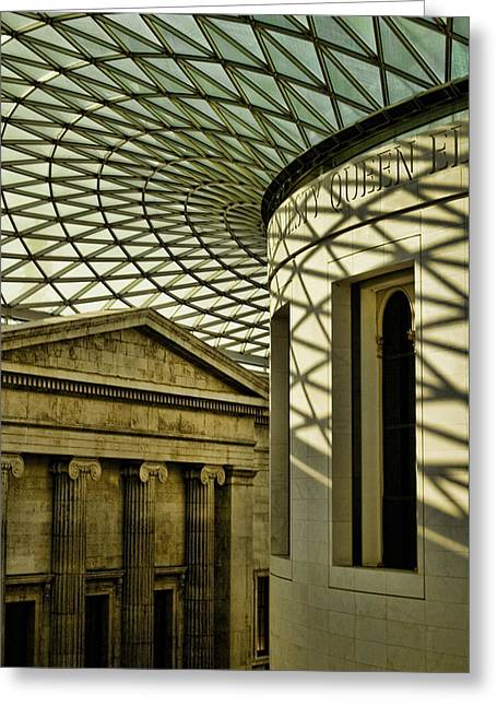 Old And New Photographs Greeting Cards - British Museum Greeting Card by Heather Applegate