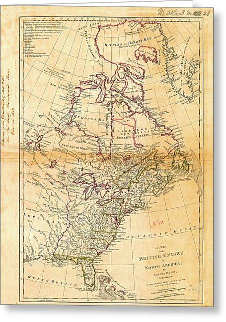 British North America Greeting Card by American Philosophical Society