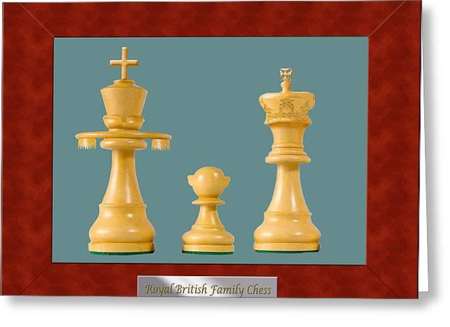 Royal Family Arts Digital Art Greeting Cards - British Royal Family Chess 2 Greeting Card by Enrique Amat
