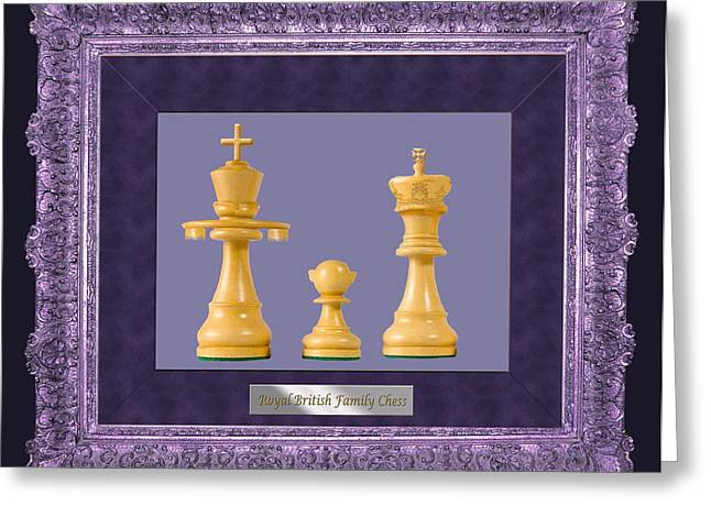 Royal Family Arts Greeting Cards - British Royal Family Chess Greeting Card by Enrique Amat
