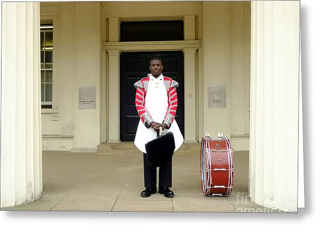 British Royalty Greeting Cards - British Royal Guard Standing Greeting Card by Andrew Chittock