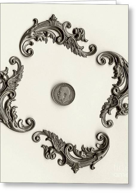 Coins Greeting Cards - British Shilling Wall Art Version 1 Greeting Card by Joseph Baril