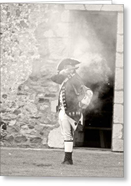 Reenact Greeting Cards - British Soldier War Of 1812 Greeting Card by Michael Allen