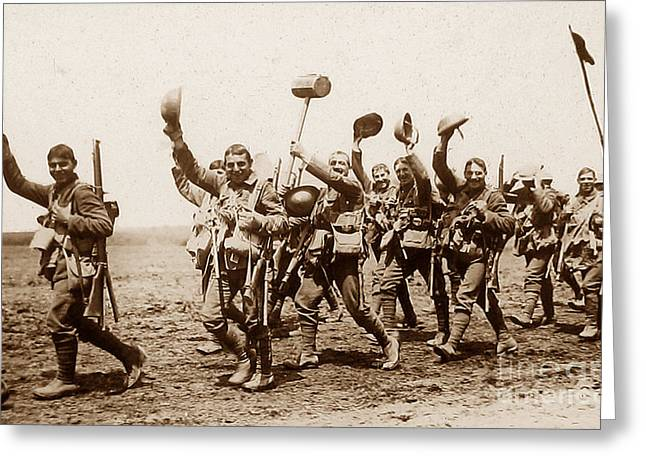 Tommie Greeting Cards - British Tommies During First World War Greeting Card by The Keasbury-Gordon Photograph Archive